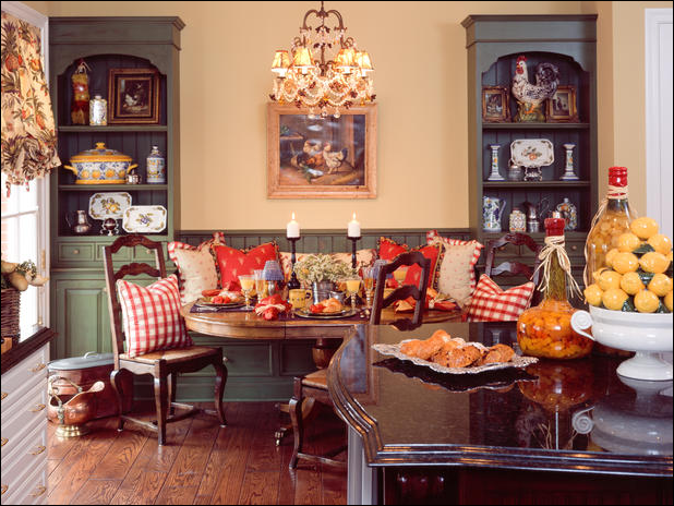 english country dining room design31