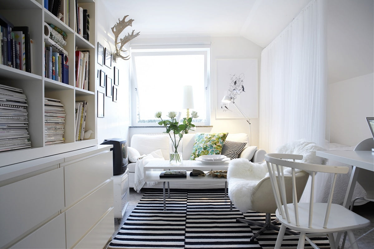 interior-architecture-marvellous-white-scandinavian-energy-interior-design-beauty-sofa-plus-chair-covered-smooth-feathers-on-black-stripped-white-carpets-also-antelope-headress-mounted-on-