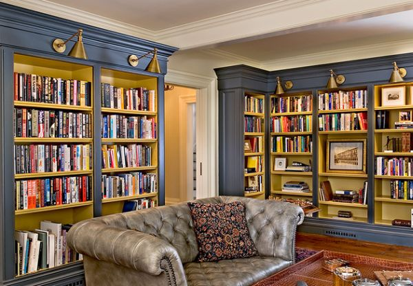 Bermuda-blue-home-library-housing-a-Chesterfield-Sofa