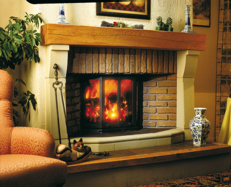 Dovre-2300-fireplace-with-optional-canopy-side-panels-lb1