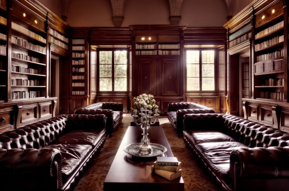 furniture-library-decorations-luxurious-brown-themed-home-library-design-with-wooden-furniture-and-comfy-long-sofas-magnificent-home-library-design-inspirations-with-adorable-furniture-hom