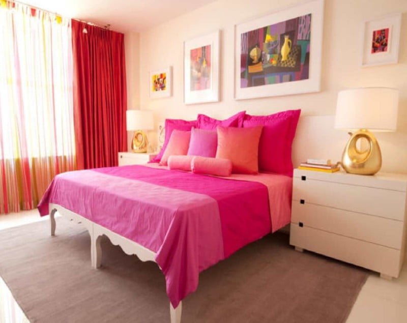 Striking-Pink-Bedroom-for-Young-Women-Stylish-Bedroom-Ideas-for-