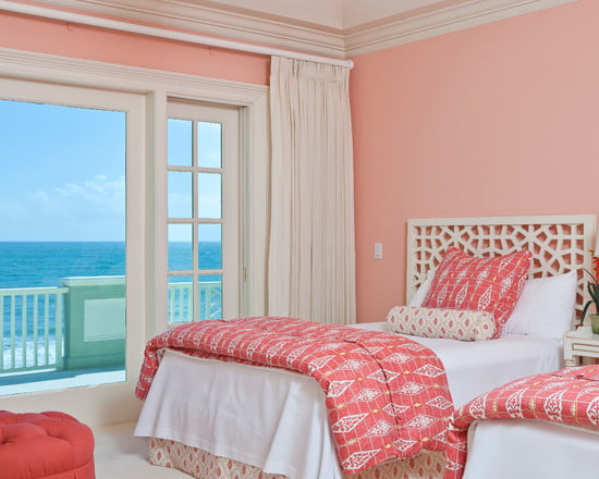 awesome-pink-bedroom-ideas-pink-paint-wall-white-ceiling-curtain-white-bedding-white-window-frames-pink-ottoman-white-headboard