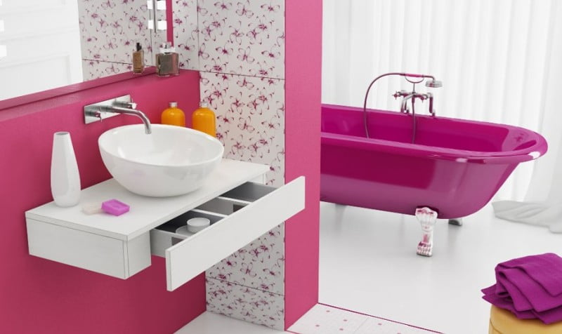 fancy-pink-and-white-bathroom