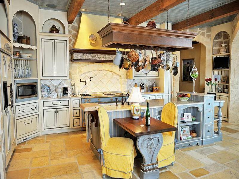 unique-furniture-inspirations-for-french-country-style-kitchen-ideas-with-yellow-color