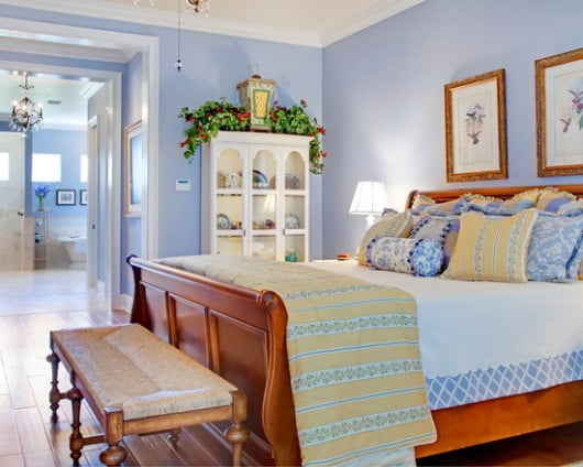French-Country-light-blue-bedroom-530x424