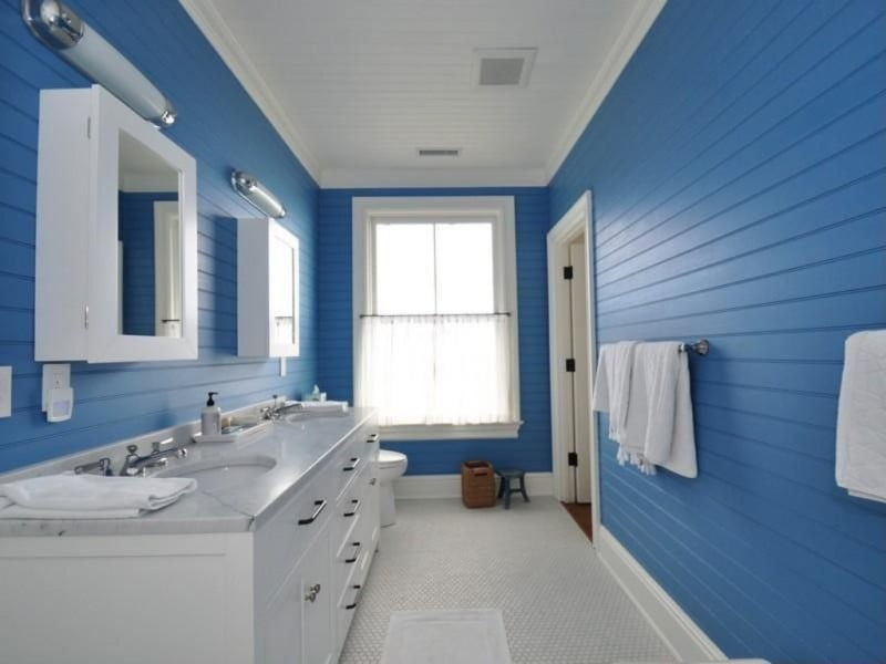 bathrooms-impressive-white-and-blue-lengthwise-bathroom-design-with-large-bathroom-vanity-and-white-cabinets-also-white-marble-countertop-12-awesome-blue-bathroom-designs-to-inspire-you