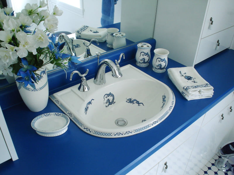 blue-and-white-painted-sink