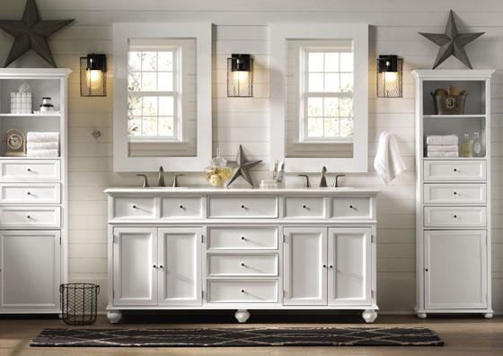 white-bathroom-double-sink-vanity-with-mirrors-images