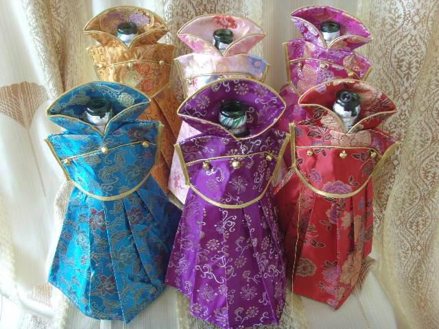 decorations-for-wine-bottles-dress-silk-fabric